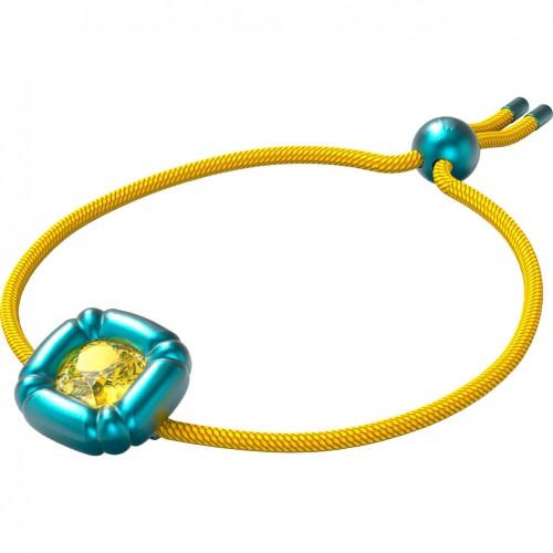 Swarovski Dulcis bracelet yellow crystal yellow cord 5613667