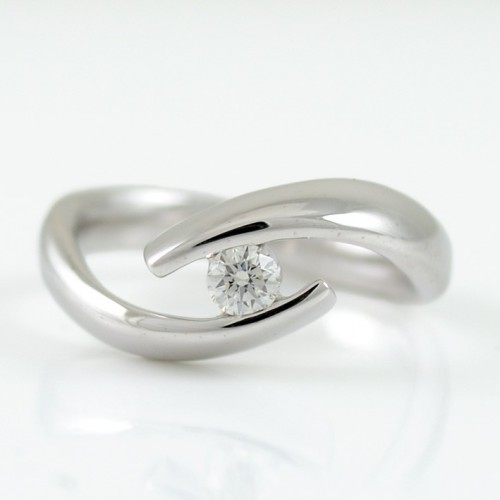 Ring Solitaire white gold with diamond A5505