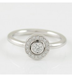 Ring white gold with diamonds A5487