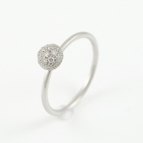 Ring white gold with diamonds A01-2652-: 01