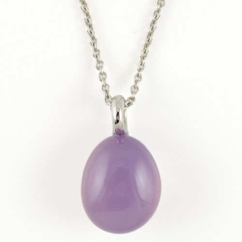 Pendant white gold and Cacedonia purple P722CP/MET-42:1