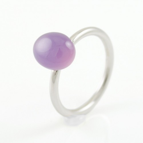 Ring white gold and Cacedonia purple MET/A624CP: 1