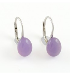 Earrings white gold and chalcedony purple MET/O649/CP: 01