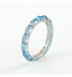 Ring white gold and Topaz blue CAP/A011T: 01
