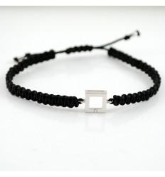 Macrame white gold bracelet and diamond 4425