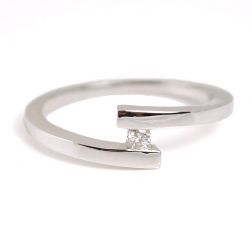Ring white gold and diamond 00002