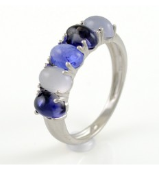 Ring white gold and Iolite CAP/A006Y: 01