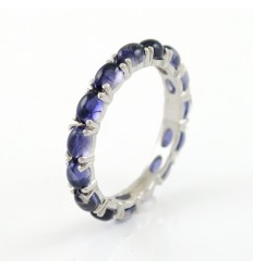 Ring white gold and Iolite CAP/A011I: 01