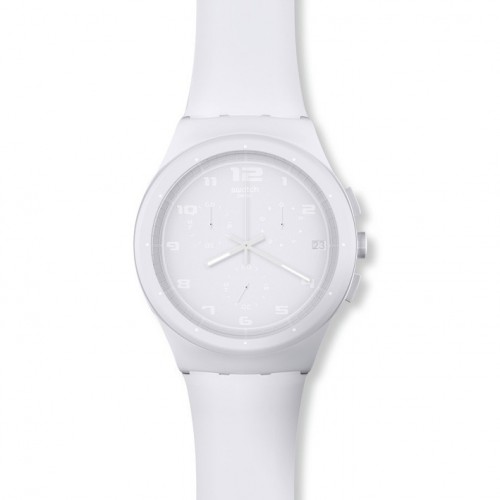 Swatch Chrono Plastic Basic Withe SUSW400