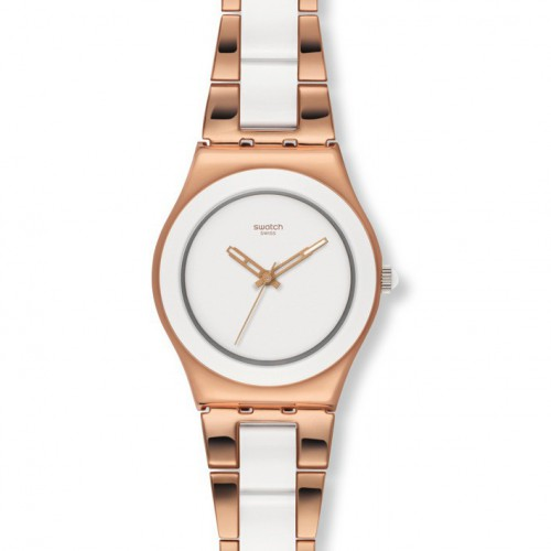 Swatch Irony Medium Rose Pearl YLG121G