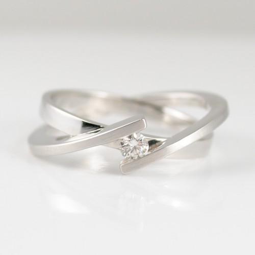 Ring white gold and diamond 79314