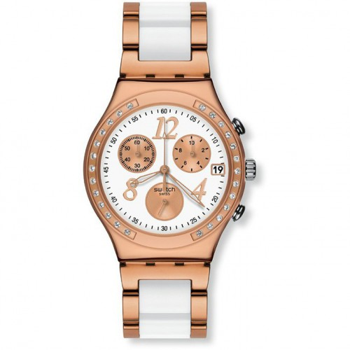DREAMWHITE swatch Irony Chrono ROSE YCG406G