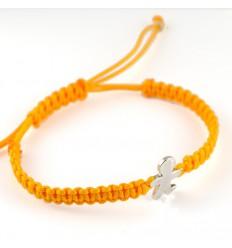 Bracelet silver Macrame mustard Inson child BR508IN01