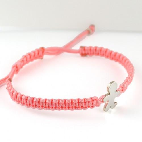 Bracelet silver Macrame Rosa Inson child BR509IN01