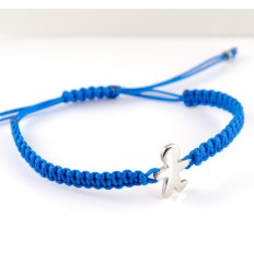Turquoise Silver Macrame bracelet child Inson BR511IN01