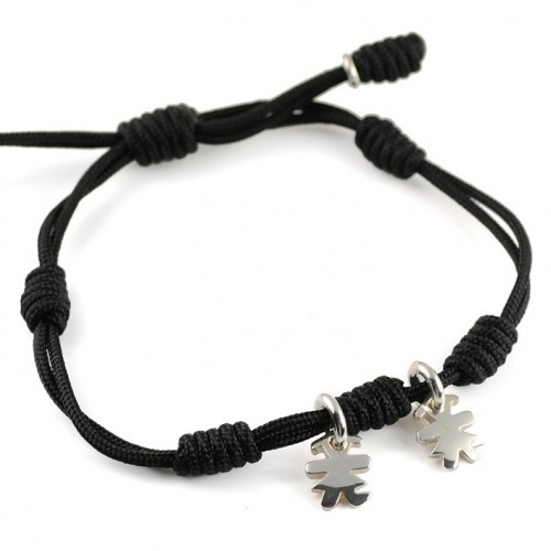 Bracelet silver black knots Insona girls BR502INA03