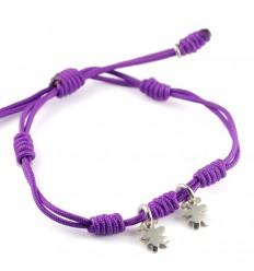 Bracelet silver knots lilac Insona girls BR504INA03