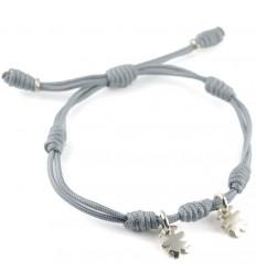 Bracelet silver grey knots Insona girls BR507INA03