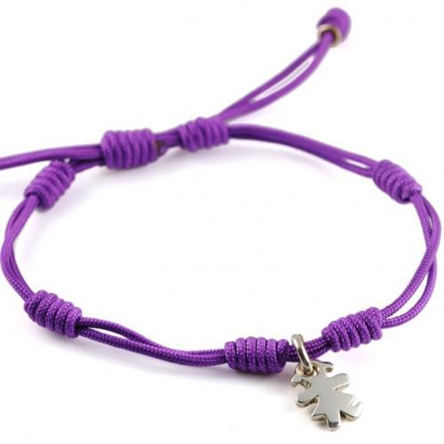 Bracelet silver lilac knots Insona girl BR504INA02