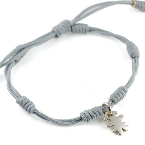 Bracelet silver grey knots Insona girl BR507INA02