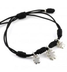 Black silver bracelet knots Insona girls BR502INA04