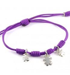 Bracelet silver knots lilac Insona girls BR504INA04