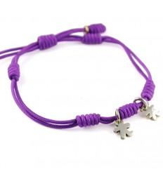 Bracelet silver knots lilac Inson-Insona boy girl BR504INS03