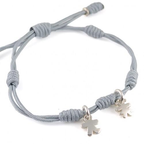 Bracelet knots silver grey Inson-Insona boy girl BR507INS03
