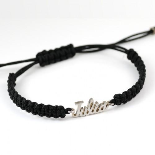 Bracelet silver Macrame name BR502NOM