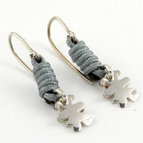 Earrings silver grey knots Insona girl AR507INA05
