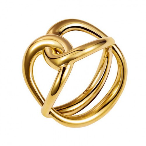 Ring Calvin Klein link yellow PVD KJ44CR020106 KJ44CR020107