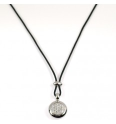 Pendant white gold diamonds C2211