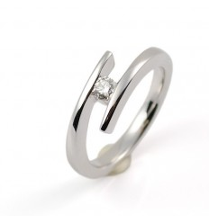 Ring white gold and diamond A4521