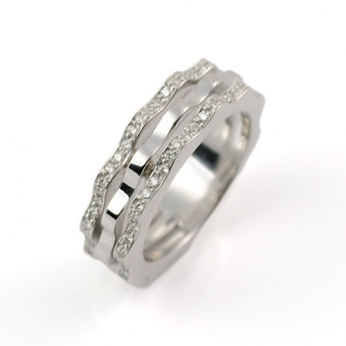 Ring white gold and diamonds A5344
