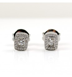 Earrings white gold and diamonds R3791