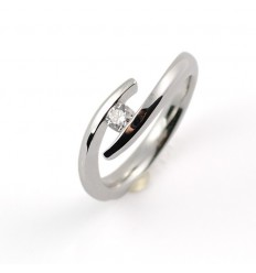 Ring white gold and diamond A4526