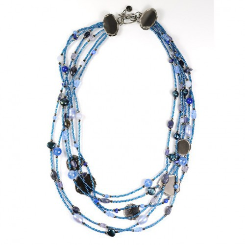 Blue silver CL002442GPV6FX necklace