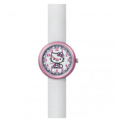 Flik Flak Hello Kitty White Watch and Purse FLN033