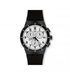 Swatch Chrono Plastic Watch BLACK AGAIN TWICE SUSR401