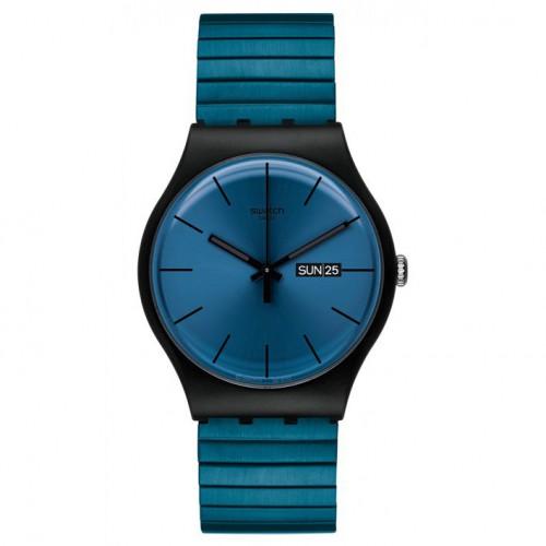 Swatch New Gent watch Blue Resolution SUOB707B