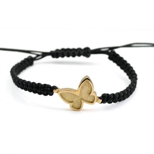 Silver Gold Butterfly Bracelet Macrame PAP001BR702