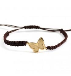 Silver Gold Butterfly Bracelet Macrame PAP001BR703
