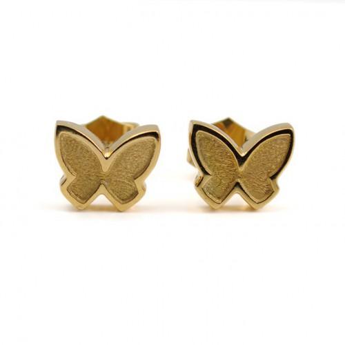 Golden Silver Butterfly Earrings PAP001AR700