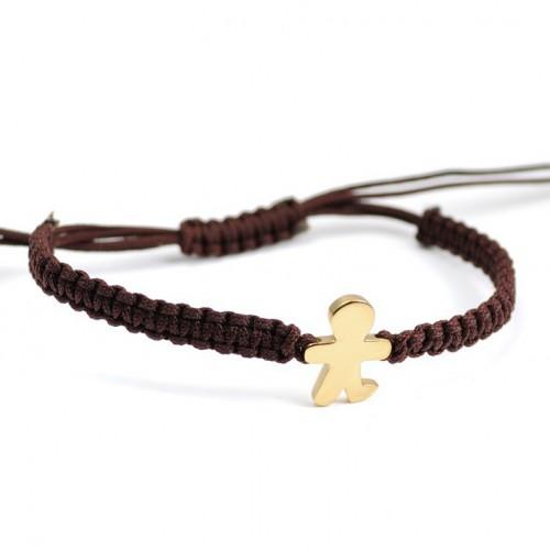 Macrame Bracelet Silver brown child Inson Gold IN01BR703