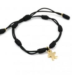 Knots Silver Bracelet Black Gold Inson child IN02BR702