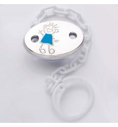Blue pacifier clip Toto. 212951