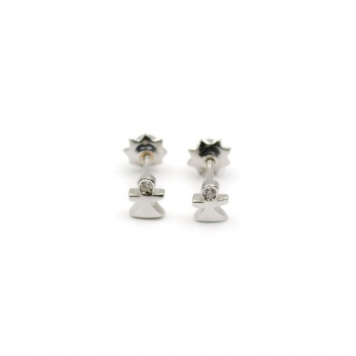 Birth baby girl Earrings White Gold and Diamonds 155056AOB