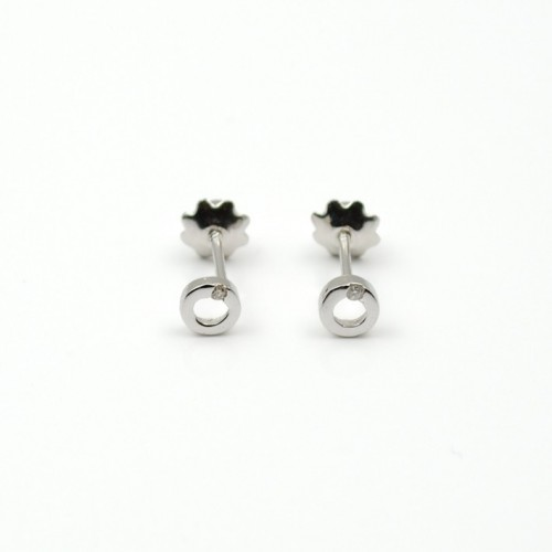 Birth Baby Earrings White Gold And Diamonds 155115aob