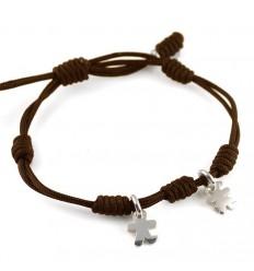 Bracelet knots silver brown Inson-Insona boy girl INS03BR503