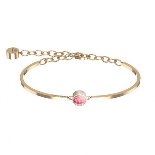 Candy Rebecca Bracelet pink gold Plated bronze Swarovski stone BWSBOR29